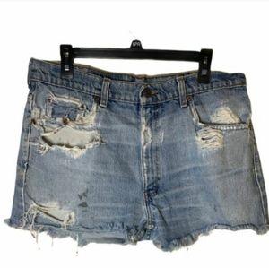 COPY - Levi Strauss & Co. Distressed jean short
